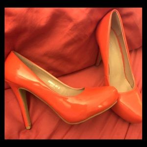 Shoes - Heel Coral colored..